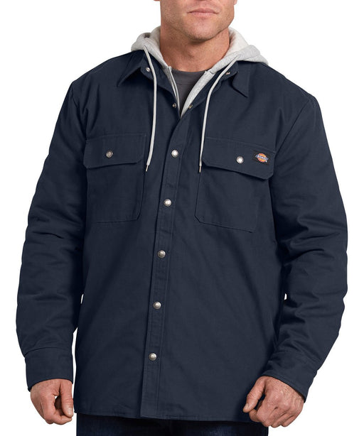 Dickies Icon Hooded Duck Quilted Shirt Jacket - Dark Navy