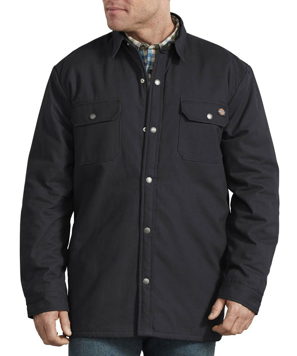 Dickies Plaid Lined Shirt Jacket in Black at Dave's New York