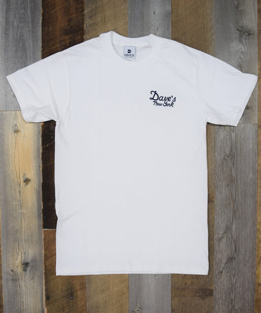 Dave's New York Vintage Logo Short Sleeve Tee Shirt - White