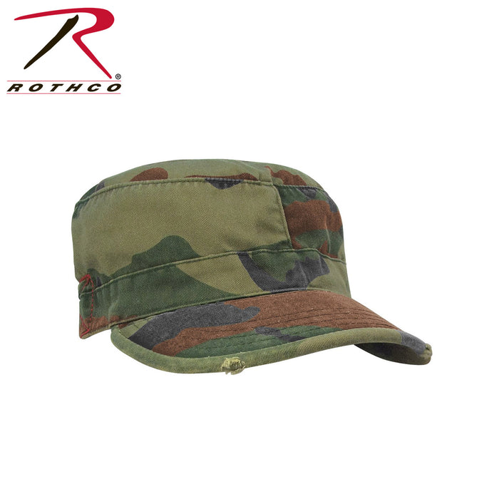 Rothco Vintage Fatigue Cap in Woodland Camoflauge at Dave's New York