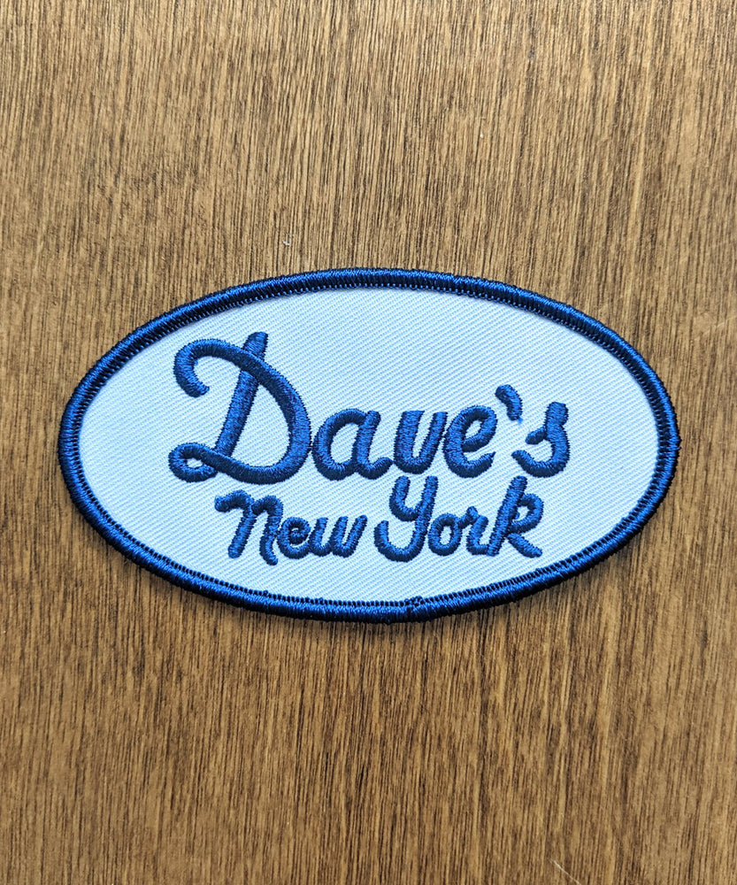 Dave's New York Vintage Logo Patch - Navy