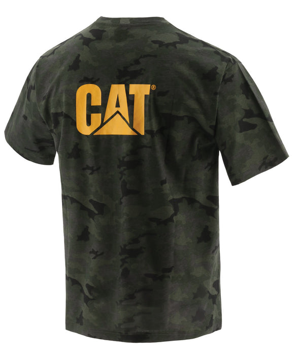 Caterpillar Short Sleeve Trademark Tee Shirt - Night Camo