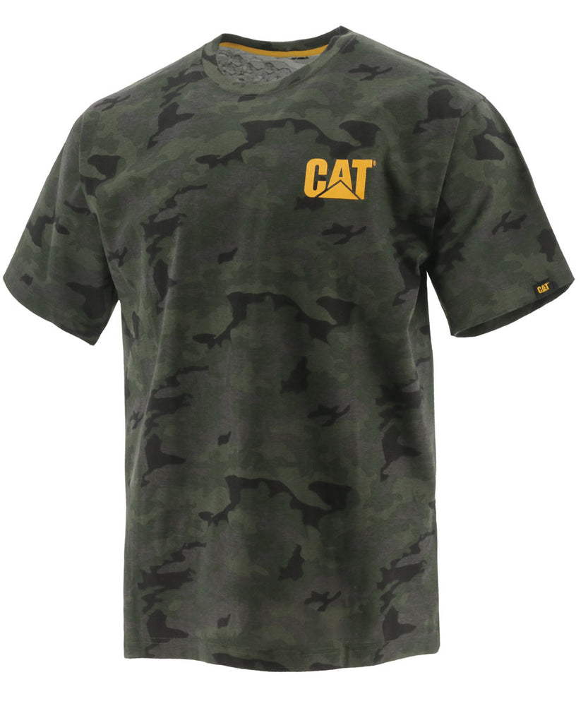 Caterpillar Short Sleeve Trademark T-shirt in Night Camo at Dave's New York