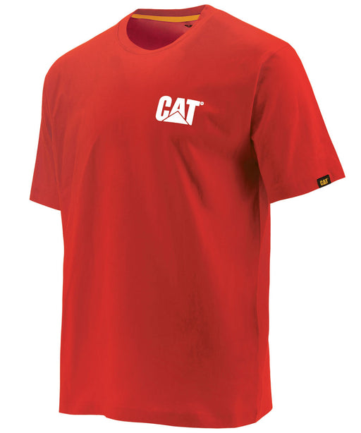 Caterpillar Short Sleeve Trademark T-Shirt - Laser Red at Dave's New York