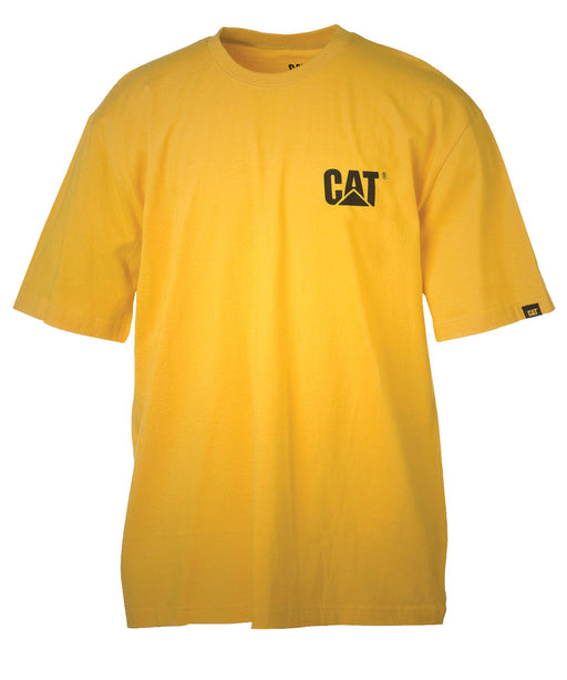 Caterpillar Short Sleeve Trademark Tee Shirt - Yellow