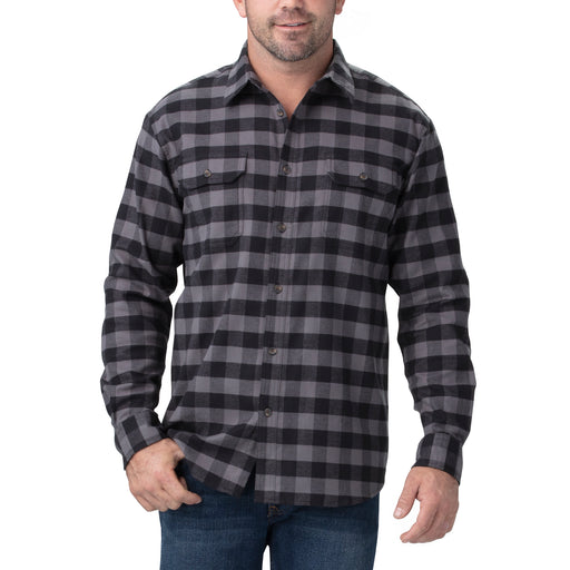 Dickies Men's FLEX Long Sleeve Flannel Shirt - Slate/Black Check at Dave's New York