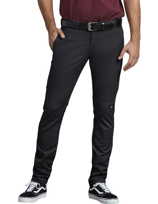 Dickies FLEX Skinny Straight Fit Double Knee Work Pants - Black