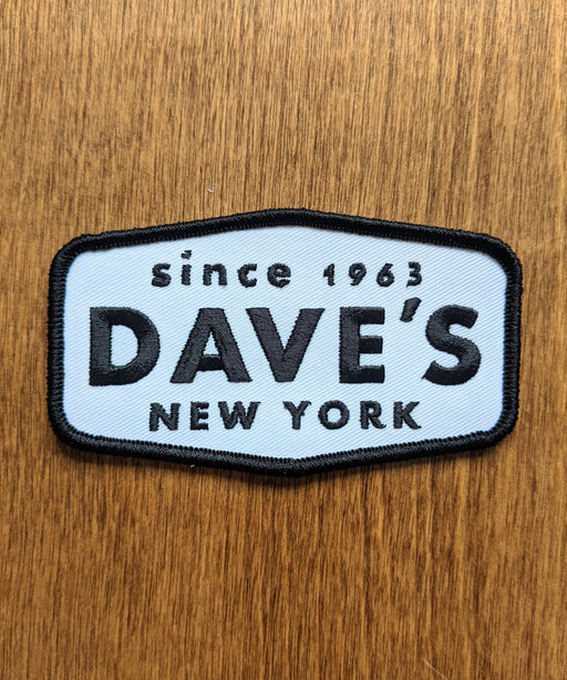 Dave's New York Classic Work Logo Patch - Black