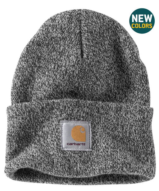 Carhartt A18 Watch Hat (Beanie) in Black/White at Dave's New York