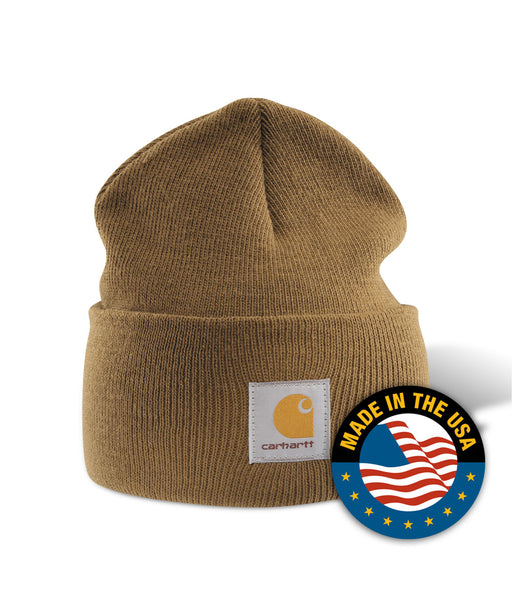 Carhartt A18 Watch Hat (Beanie) - Carhartt Brown