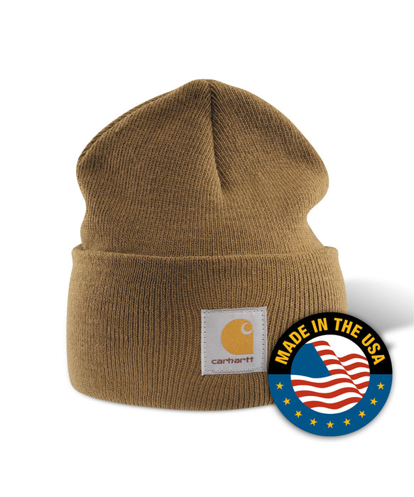 Carhartt A18 Watch Hat (Beanie) in Carhatt Brown at Dave's New York