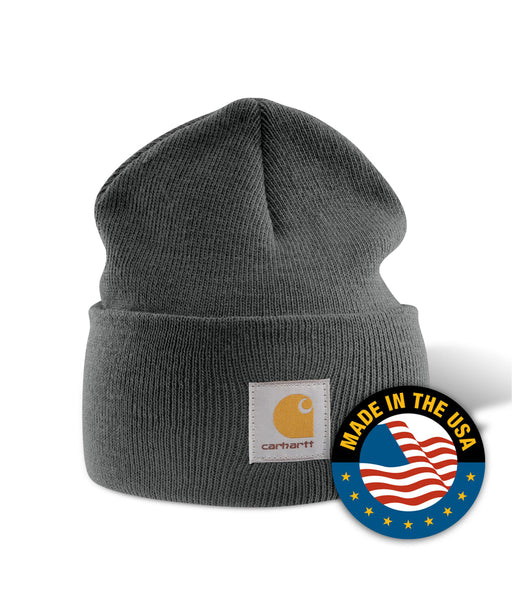 Carhartt A18 Watch Hat (Beanie) in Coal Heather at Dave's New York