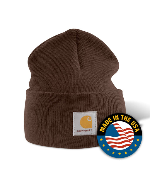 Carhartt A18 Watch Hat (Beanie) in Dark Brown at Dave's New York