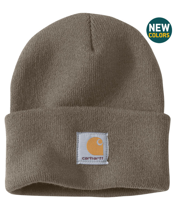 Carhartt A18 Acrylic Knit Watch Hat - Driftwood — Dave s New York fc72f08133e6