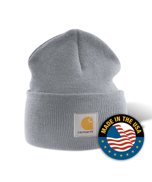 Carhartt A18 Watch Hat (Beanie) in Heather Grey at Dave's New York