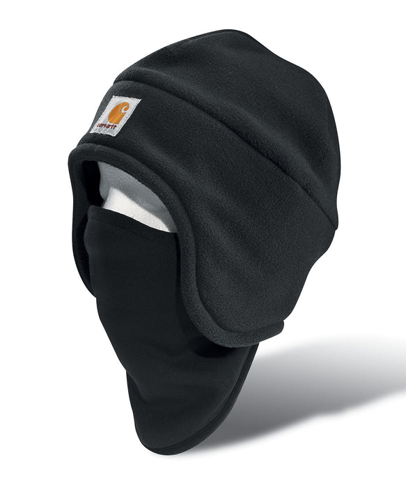 Carhartt Fleece 2-in-1 Headwar Mask in Black at Dave's New York