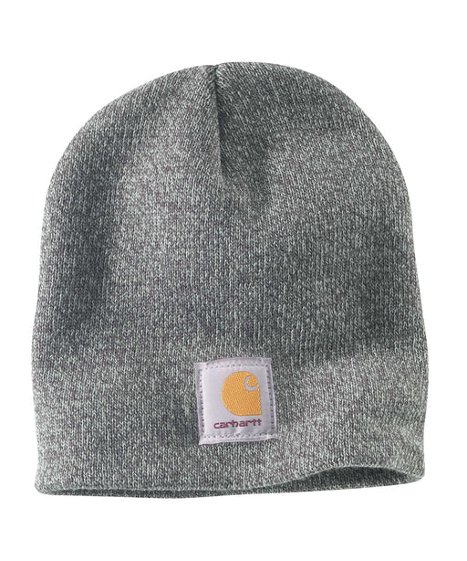Carhartt A205 Acrylic Knit Hat (Beanie) in Dark Grey Heather at Dave's New York