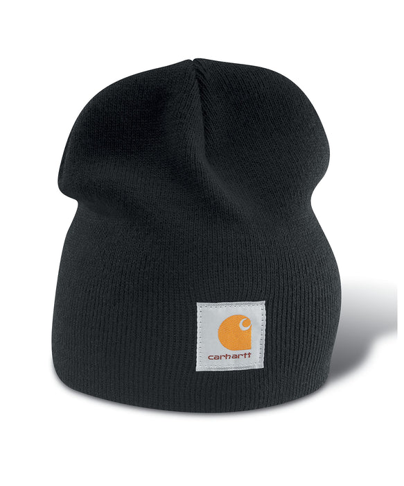 Carhartt A205 Acrylic Knit Hat (Beanie) in Black at Dave's New York