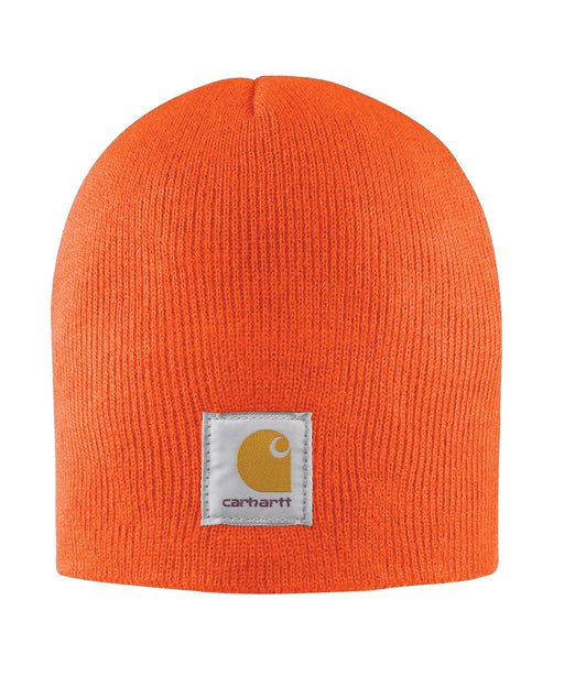Carhartt A205 Acrylic Knit Hat (Beanie) in Brite Orange at Dave's New York