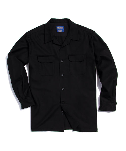 Pendleton Men's Classic Fit Wool Board Shirt - AA022 - Black