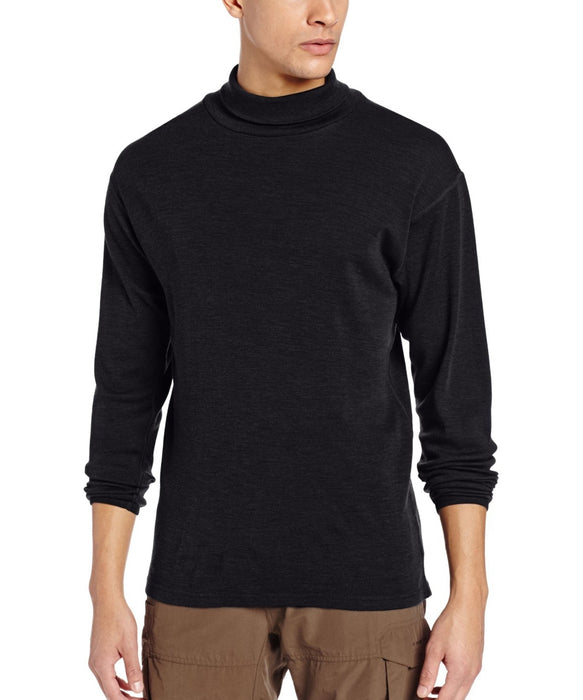 Minus33 Kinsman Men's Midweight Turtleneck Shirt (model 712) - Black