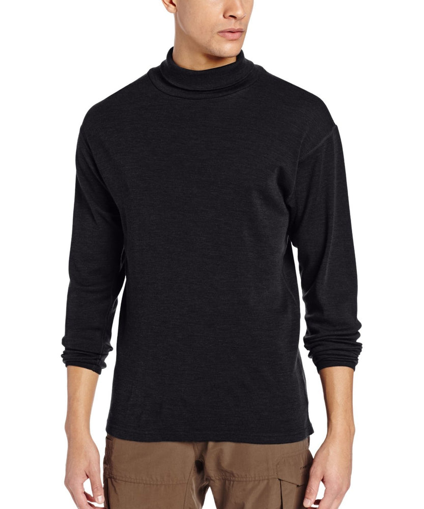 Minus33 Kinsman Men's Midweight Turtleneck Thermal Shirt in Black at Dave's New York