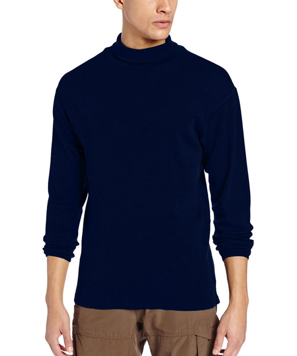 Minus33 Kinsman Men's Midweight Turtleneck Shirt (model 712) in Navy at Dave's New York