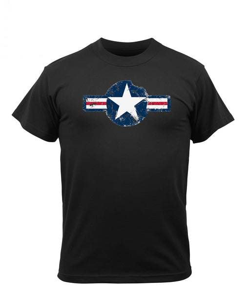 Rothco Army Air Corps Vintage Military T-shirt in Black at Dave's New York