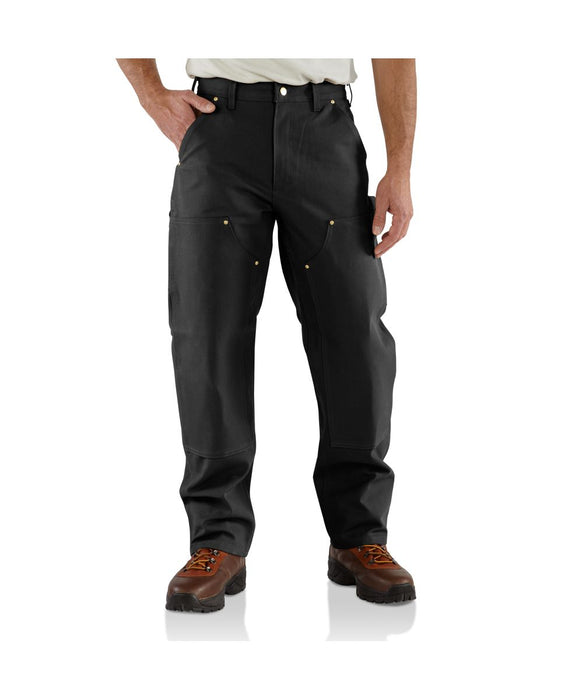 Carhartt B01 Firm Duck Double-Knee Work Dungaree in Black at Dave's New York