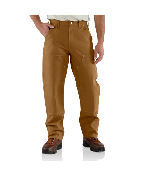 Carhartt B01 Firm Duck Double Knee Work Dungaree - Carhartt Brown