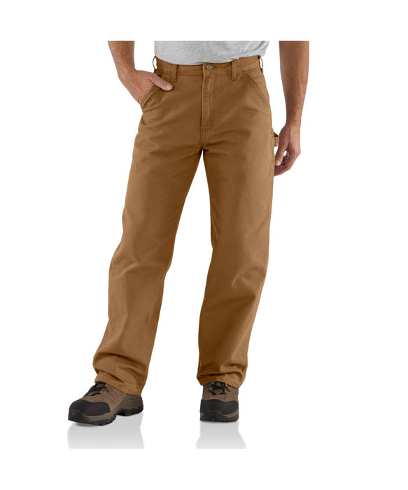 Carhartt B11 Washed Duck Work Dungaree Pant in Carhartt Brown at Dave's New York
