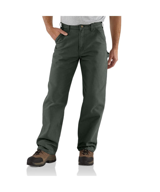 Carhartt B11 Washed DUck Work Dungaree Pant in Moss at Dave's New York