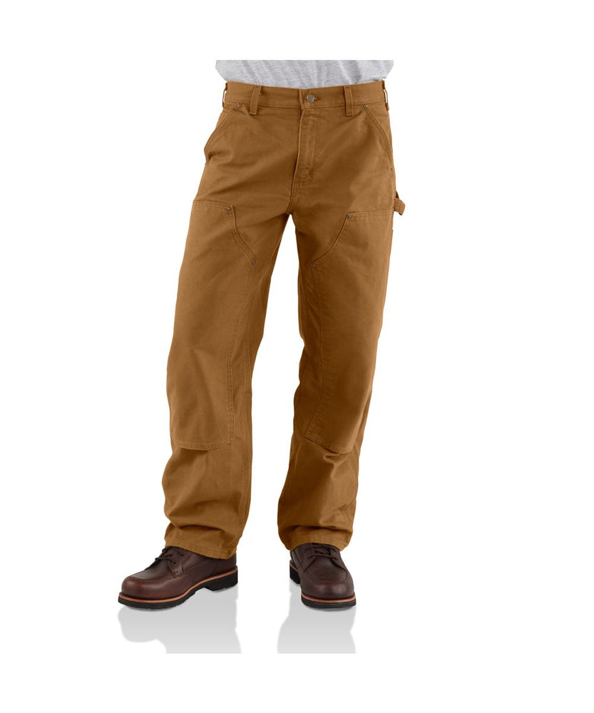 Carhartt B136 Double Front Washed Duck Dungaree in Carhartt Brown at Dave's New York