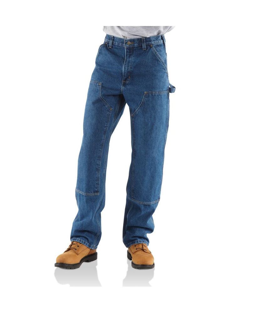 Carhartt Double Front Denim Logger Dungaree in Darkstone at Dave's New York