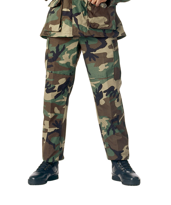 Rothco Army Style BDU Cargo Pants – Woodland Camouflage