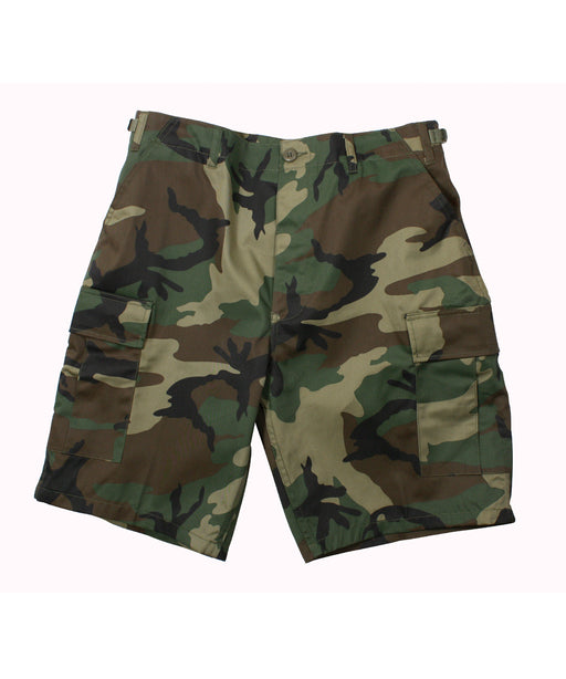 Rothco Army Style BDU Cargo Shorts – Woodland Camouflage
