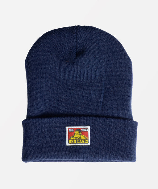 Ben Davis Classic Logo Knit Beanie in Navy at Dave's New York