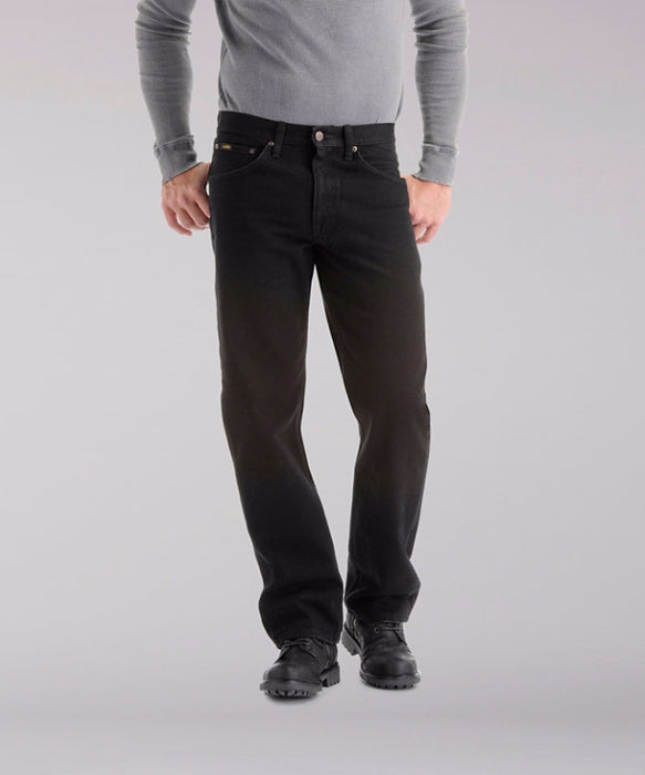 Lee Men's Regular Fit Straight Leg Jeans (Big & Tall) – Double Black