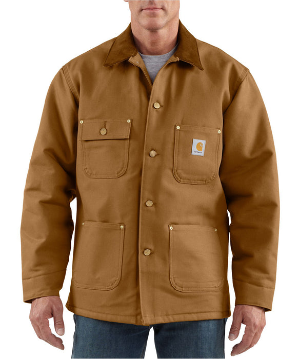 Carhartt Duck Chore Coat in Carhartt Brown at Dave's New York