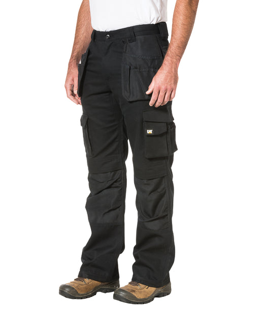 Caterpillar Trademark Trousers (with holster pockets) in Black at Dave's New York