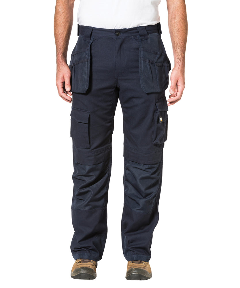 Caterpillar Trademark Trouser (with holster pockets) in Navy at Dave's New York