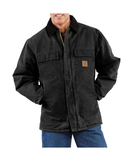 Carhartt Sandstone Traditional Coat in Black at Dave's New York