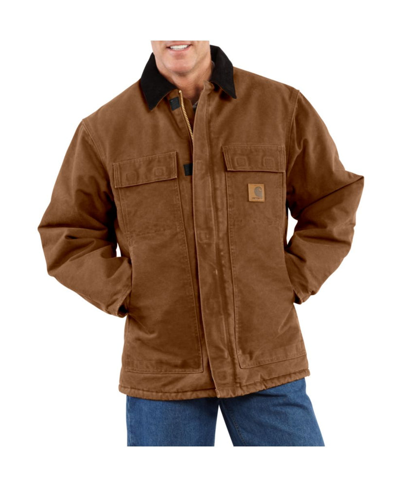 Carhartt Sandstone Traditional Coat in Carhartt Brown at Dave's New York