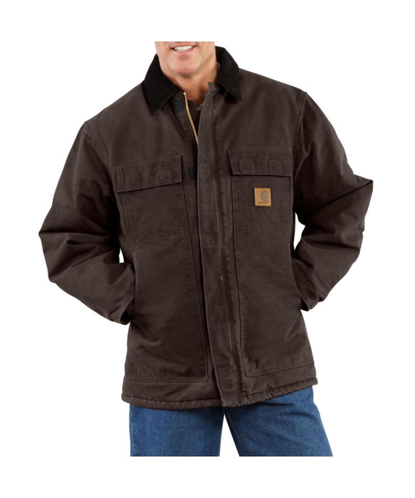 Carhartt Sandstone Traditional Coat in Dark Brown at Dave's New York