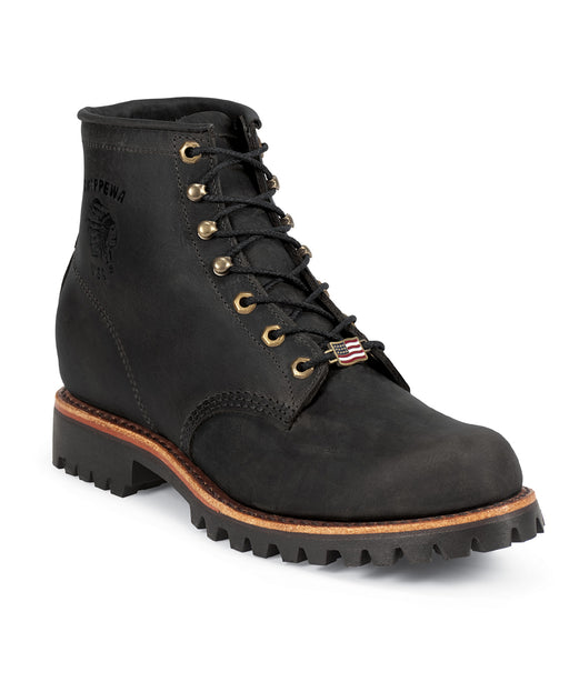 "Chippewa 6"" Black Odessa Lace Up Boots - Black"