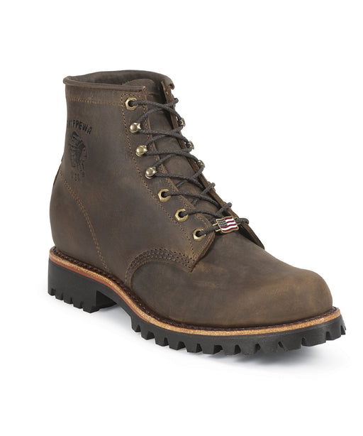 Chippewa 6-inch Apache Lace-Up Boot in Chocolate at Dave's New York