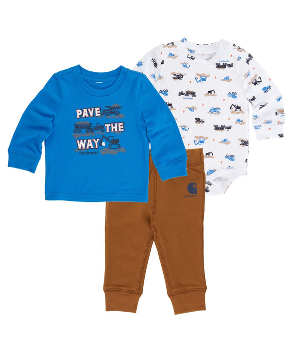 Carhartt Boys' Pave the Way Pant Set – (3m – 24m) – Model CG8679