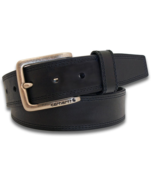 Carhartt Hamilton Leather Belt in Black at Dave's New York