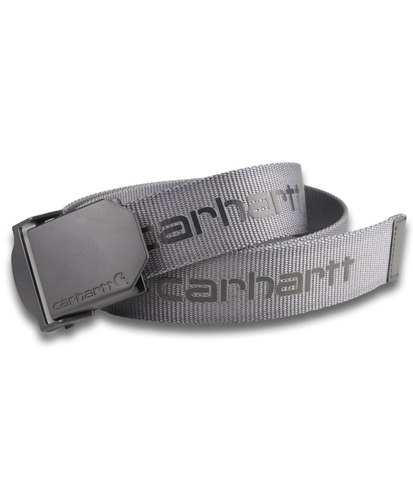 Carhartt Signature Nylon Webbing Belt – Steel Grey