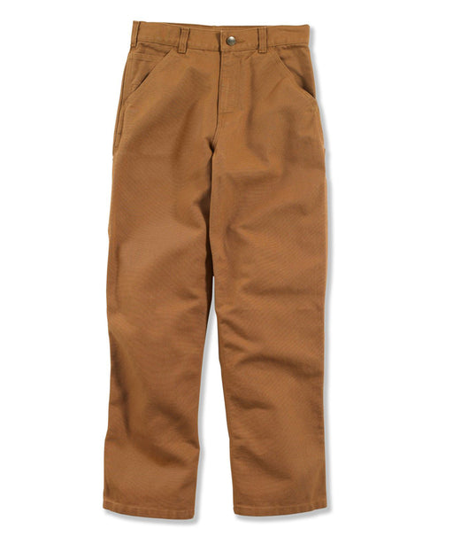 Carhartt Boys Washed Canvas Duck Dungaree Pant in Carhartt Brown at Dave's New York